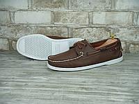 Мужские кожаные мокасины Top Sider Sebago светло-коричневого цвета