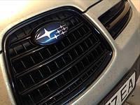 НАШИ РАБОТЫ: Покраска масок фар в чёрный мат и антихром решетки радиатора Subaru Tribeca B9