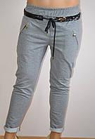 Штаны женские, цвет серый, с карманами