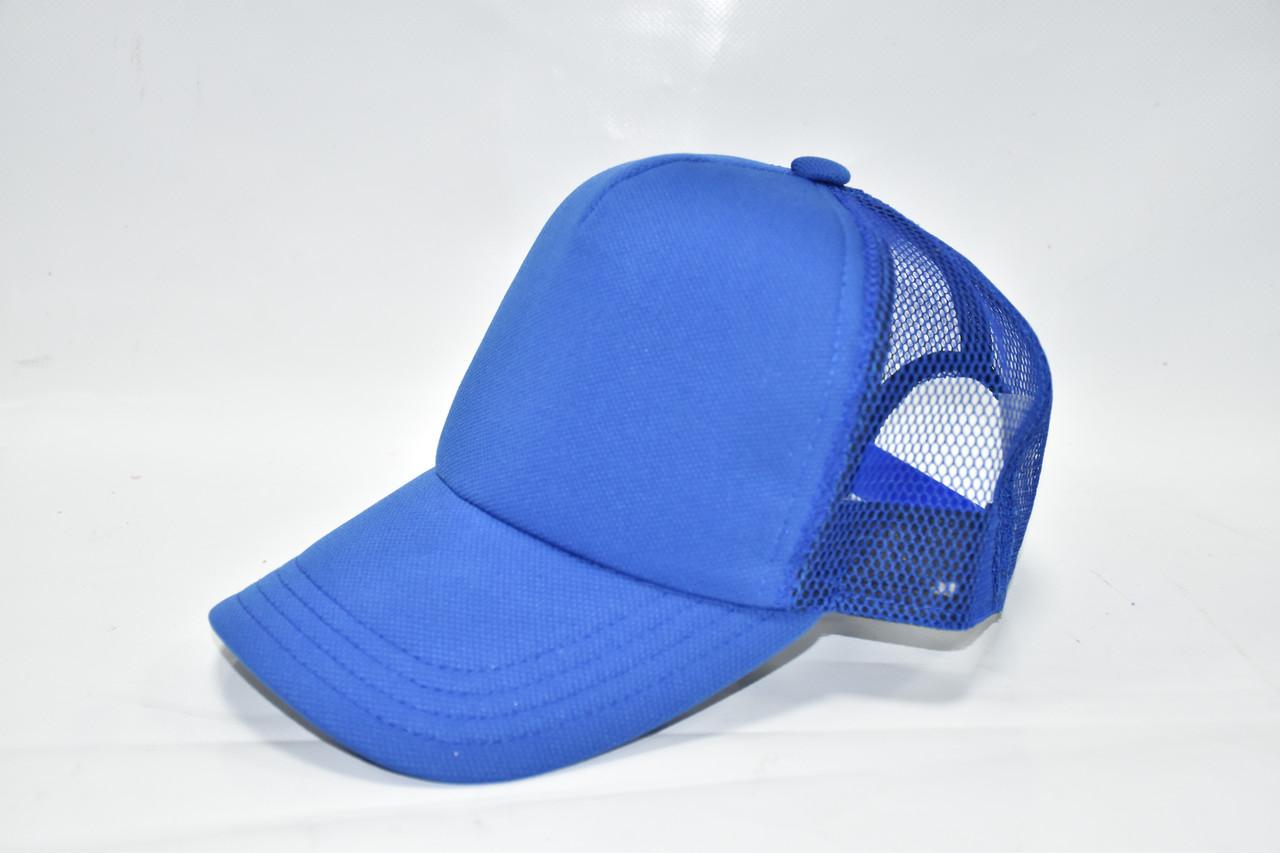 Кепка базовая синяя
