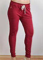 Женские брюки, повседневные, красные