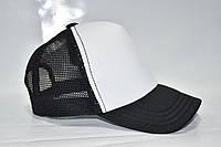 Кепка базовая черная с белым , фото 1