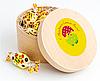 Конфеты пасхальные в деревянной упаковке c логотипом
