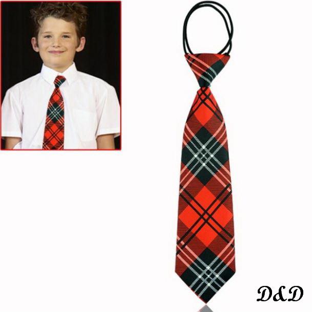 """Детский галстук в крупную клетку красно-чёрный """"Аристократ"""""""
