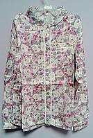 Блуза для девочек Розовый рисунок 128 см РБ77 (128) Бэмби Украина