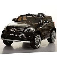 Детский электромобиль джип Mercedes  M 3299 EBLR-2, колеса EVA,кож сид, черный