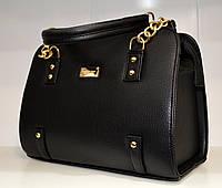Модная женская сумка каркасная, цвет черный