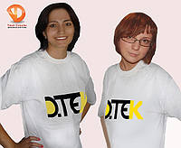 Рекламные футболки , промо футболки 44 Синий