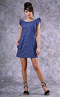 Женское джинсовое  платье с открытой спиной