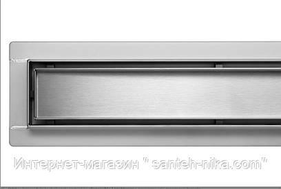 Трап для душа, душевой трап Poland Lux серия из пищевой нержавеющей стали 90 см линейный под плитку