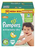 Подгузники Pampers Active Baby-Dry Размер 4+ (Maxi+) 9-16 кг, 120шт