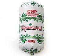 """Творог обезжиренный 400г.(Богодухов) туба """"ТМ Украинский"""""""