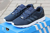 Мужские кроссовки Adidas zx flux тёмно синий