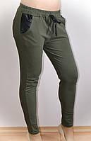 Женские брюки, повседневные, хаки