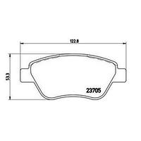 Оригинальные передние тормозные колодки FIAT: 500C, Doblo cargo(223), Punto.