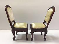 Кукольная мебель набор стульев. (9 см.)