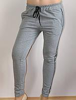 Женские брюки, повседневные, cерые