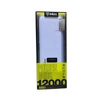 Аккумулятор зарядное Power Bank Inkax 12000mah с лампой дневного света