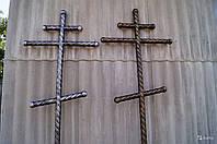 Крест могильный старословянский кованный