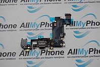 Шлейф для Apple iPhone 6S Plus 5.5  коннектора зарядки / коннектора наушников с микрофоном  компонентами серый