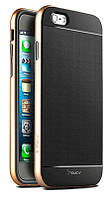 Чехол-накладка iPaky (OR) Carbon TPU + Bumper for iPhone 6 Gold