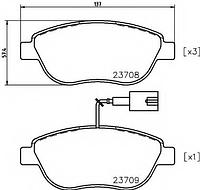 Оригинальные передние тормозные колодки FIAT: 500C, Doblo cargo(223), Grande Punto.