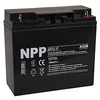 Свинцево-кислотний акумулятор NP12-17 (NPP)