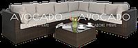 Комплект плетеной мебели из ротанга PULA IV BRAUN  312х240см