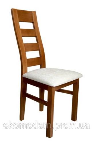 Стул деревянный ХЬЮСТОН + с твердой спинкой и мягким сидением для кухни, гостиной, кафе, бара, ресторана