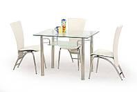 Стеклянный обеденный стол ERWIN 100/70 (Halmar)