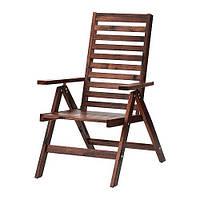 """IKEA """"ЭПЛАРО"""" Садовое кресло/регулируемая спинка, коричневый складной коричневая морилка"""