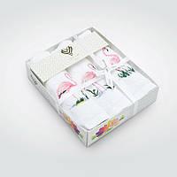Набор махровых салфеток Фламинго 3шт