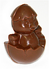 Цыпленок пасхальный из черного шоколада в брендированной упаковке