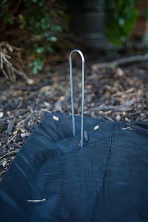 Металлическая шпилька для крепления агроволокна. ТМ Кольчуга (Kolchuga), фото 2