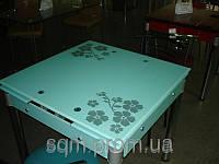 Стеклянный обеденный стол В-9