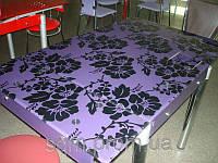 Стеклянный обеденный стол В-6