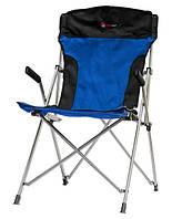 Кресло портативное ТЕ-22 SD черный/синий (Time Eco TM)