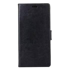 Чехол книжка для Lenovo P2 P2a42 боковой с отверстием под динамик, Гладкая кожа, черный