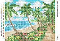 """Схема для полной зашивки бисером """"Пляж"""""""