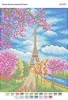 """Схема для полной зашивки бисером """"Весна в Париже"""""""
