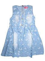 Сарафан джинсовый для девочек, размеры 98.104.110.122.122 лет, F&D, арт. CY-1139