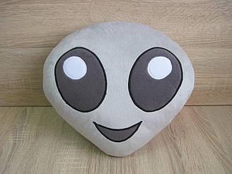 Подушка - игрушка Эмодзи Emoji Смайл инопланетянин ручной работы