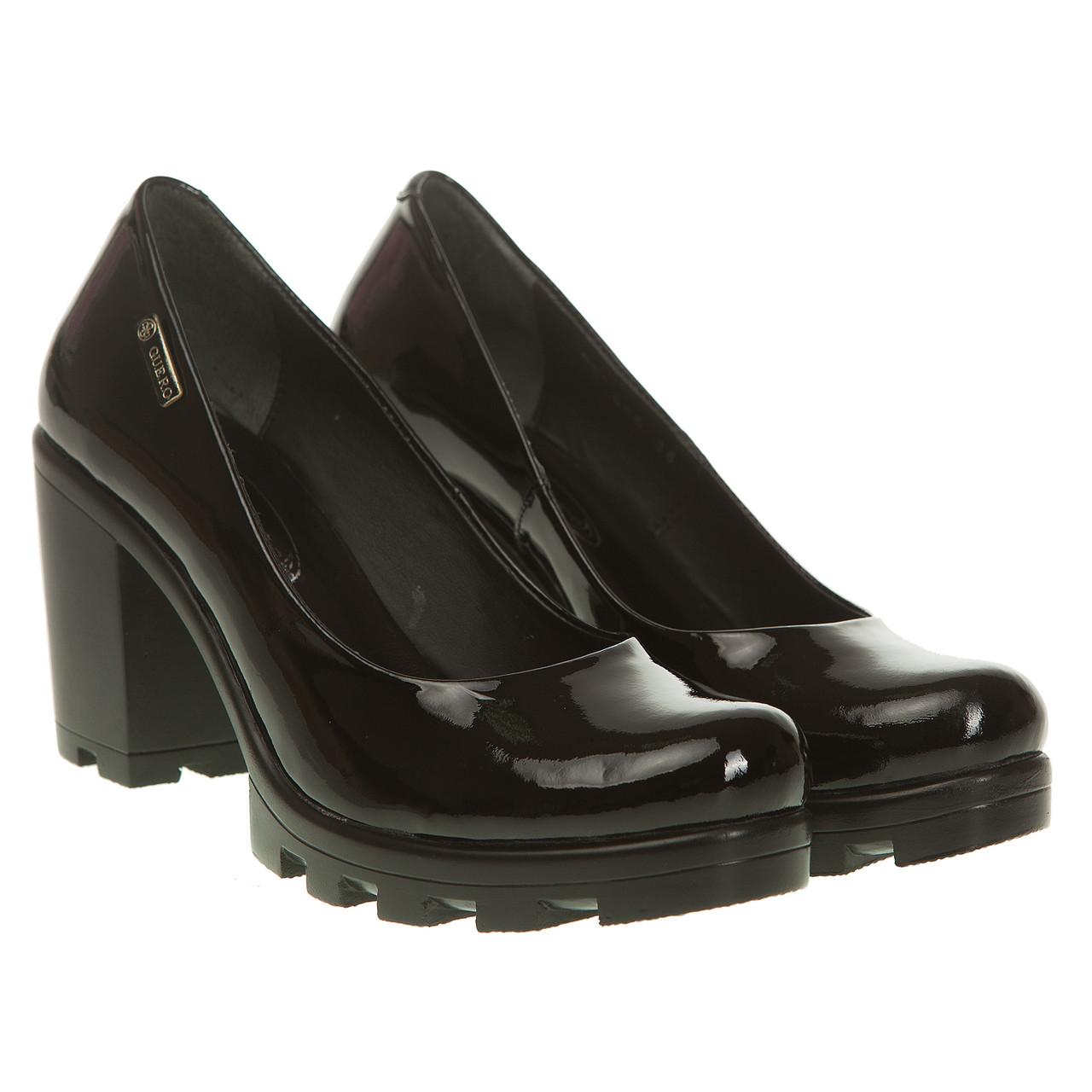 Туфли женские Guero (на удобном каблуке, качественные, практичные, натуральная лаковая кожа)