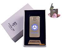 """USB зажигалка в подарочной упаковке """"Mercedes-Benz"""" (Двухсторонняя спираль накаливания) №4794A-1"""