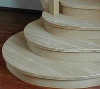 Ступени лестницы клееные клен