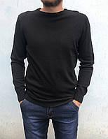 Классический мужской джемпер, черный, фото 1