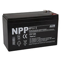 Свинцово-кислотный аккумулятор NP12-7.5 (NPP)