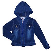 Джинсовая куртка для девочек оптом, Seagull, 4-12 рр., арт. CSQ-88685