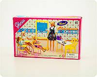 Детская игрушечная мебель Глория Gloria для кукол Барби Класс Школьная мебель 9916. Обустройте кукольный домик