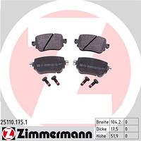 Тормозные колодки задние Zimmermann для Octavia A7 ― 1.8TSI